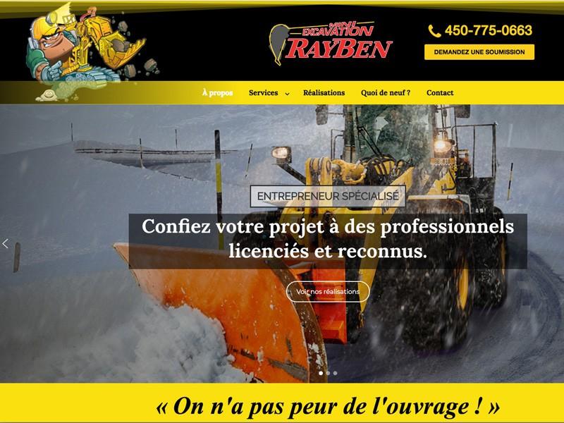 Nouveau site web de Mini Excavation Rayben